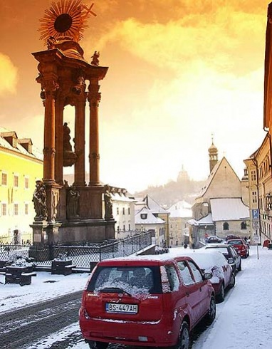 Banská Štiavnica - trojica v zime