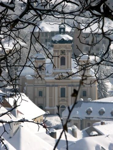 Banská Štiavnica v zime - Farský kostol
