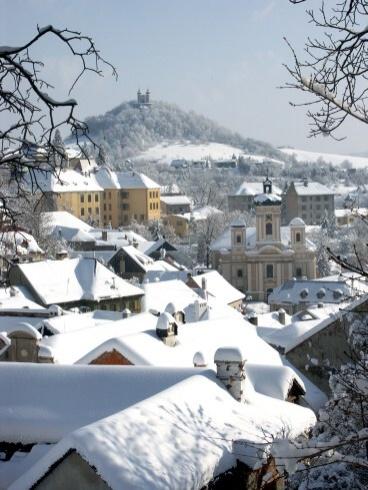 Banská Štiavnica v zime - Kalvária