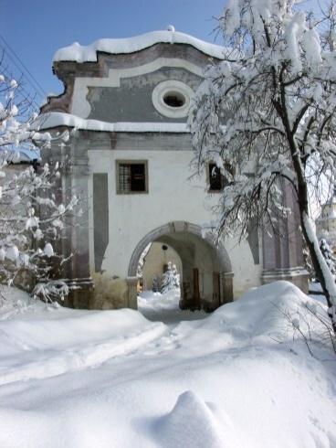 Banská Štiavnica v zime - Piargska brána