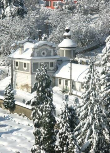 Banská Štiavnica v zime - Piargska brána z Nového zámku