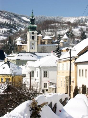 Banská Štiavnica v zime - Ružová uica