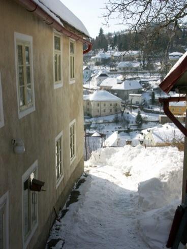 Banská Štiavnica v zime - z Hornej Ružovej