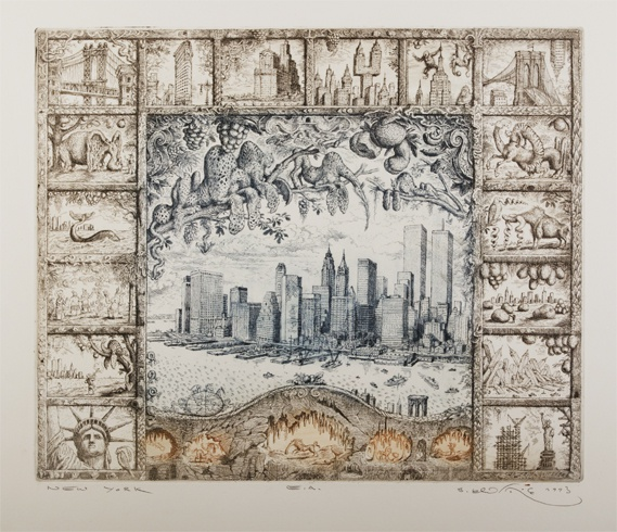 Peter KĽÚČIK, Ak. maliar - New York (1993), Technika: lept, Rozmery: 32,5x39,5 cm