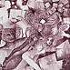 Autor: Naďa RAPPENSBER- GEROVÁ - JANKOVIČOVÁ, Ak. maliar, Názov diela: O letnej noci X, Technika: litografia , Motív: figurálne, akty, Rozmery: 25x15,5 cm, Rok: 1997