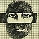 Autor: Dušan GREČNER, Akademický maliar, Názov diela: Portrét introverta, Technika: lept, Motív: ostatné nezaradené, Rozmery: 12x8,8 cm, Rok: 1989