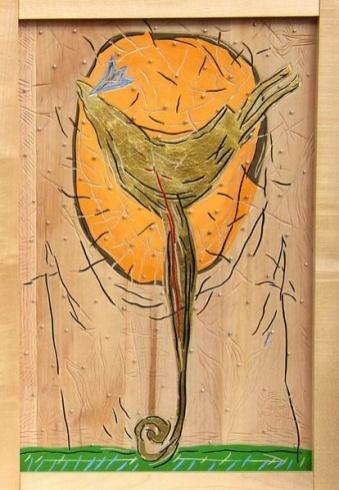 Braňo JÁNOŠ - V tieni tieň (1999), Technique: kombinovaná, Size: 70x50 cm