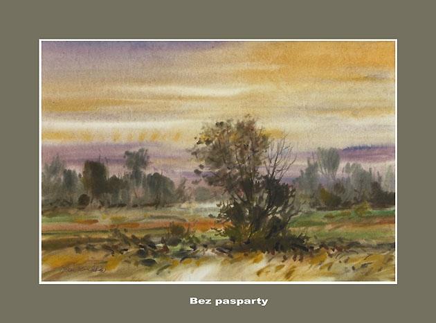 Ján KUCHTA - Krajina IV, Technika: akvarel - nerámované - bez pasparty, Rozmery: 45x65,5