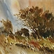 Autor: Ján KUCHTA, Name of work: Krajina XIII, Technique: akvarel - nerámované - bez pasparty, Motif: landscape, architecture, Size: 45x65,5 cm, Year: 0