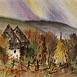 Autor: Ján KUCHTA, Názov diela: Krajina XI, Technika: akvarel - nerámované - bez pasparty, Motív: krajina, architektúra, Rozmery: 46x63,5, Rok: 0