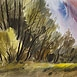 Autor: Ján KUCHTA, Názov diela: Krajina XV, Technika: akvarel - nerámované - bez pasparty, Motív: krajina, architektúra, Rozmery: 41x62 cm, Rok: 0