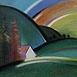 Autor: Jozef JELENÁK, Názov diela: Samota, Technika: pastel, Motív: krajina, architektúra, Rozmery: 40,5x55 cm, Rok: 2003