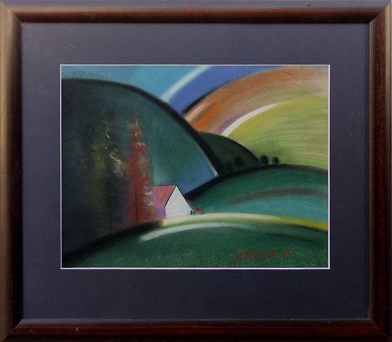 Jozef JELENÁK - Samota (2003), Technika: pastel, Rozmery: 40,5x55 cm