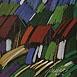 Autor: Jozef JELENÁK, Názov diela: Humno, Technika: pastel, Motív: krajina, architektúra, Rozmery: 41x53 cm, Rok: 2006
