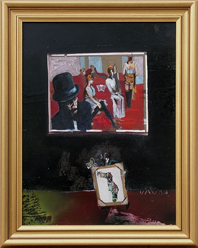 Milan VAVRO, Akademický maliar - Galéria H.T.Lotreca - Moulin Rouge (2007), Technika: olejomaľba, Rozmery: 48,5x36,5 cm