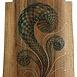 Autor: Arpád PÁL, Názov diela: Sitniansky rytier, Technika: kombinácia techník, drevorezba, maľba, zlátenie,, Motív: abstraktné, Rozmery: 72x52 cm, Rok: 2008