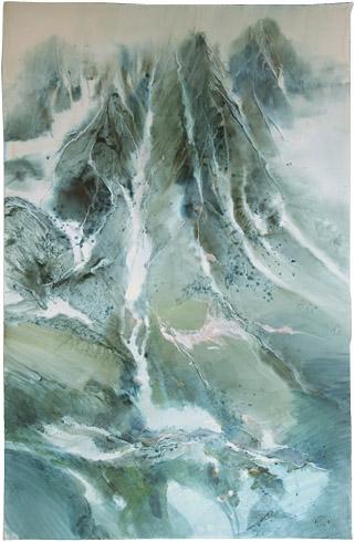 Zdeněk HOŠEK, Akademický sochár - Tatry (2001), Technika: akvarel, Rozmery: 100x65 cm