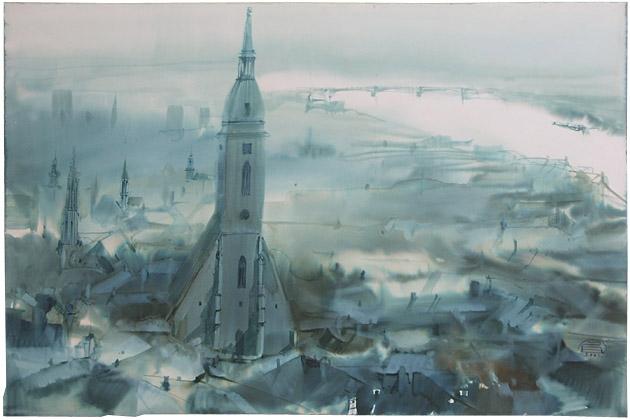 Zdeněk HOŠEK, Akademický sochár - Bratislava (2002), Technika: akvarel, Rozmery: 37,5x47 cm
