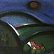Autor: Jozef JELENÁK, Názov diela: Oranžové slnko, Technika: pastel, Motív: krajina, architektúra, Rozmery: 36x57 cm, Rok: 2008