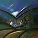 Autor: Jozef JELENÁK, Názov diela: Osada, Technika: pastel, Motív: krajina, architektúra, Rozmery: 38x58 cm, Rok: 2008