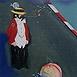 Autor: Milan VAVRO, Akademický maliar, Názov diela: Slnečný cirkus, Technika: kombinácia techník, Motív: figurálne, akty, Rozmery: 33x27 cm, Rok: 2003