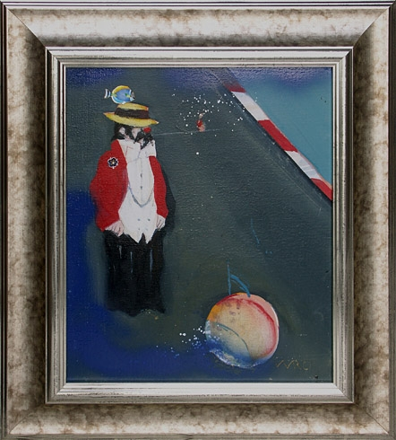 Milan VAVRO, Akademický maliar - Slnečný cirkus (2003), Technika: kombinácia techník, Rozmery: 33x27 cm