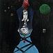 Autor: Milan VAVRO, Akademický maliar, Názov diela: Tanečnica, Technika: kombinácia techník, Motív: figurálne, akty, Rozmery: 33x32 cm, Rok: 2008