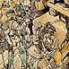 Autor: Igor LACKOVIČ, Názov diela: Stavanie čerpadla, Technika: kolorovaná perokresba, Motív: figurálne, akty, Rozmery: 22x12 cm, Rok: 2008