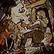 Autor: Igor LACKOVIČ, Názov diela: Prvá dobývacia metóda (kladivkom a želiezkom), Technika: maľba akrylom, Motív: figurálne, akty, Rozmery: 18x13,5 cm, Rok: 2008