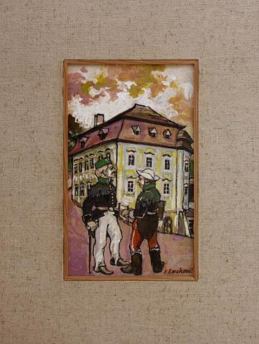 Igor LACKOVIČ - Banskoštiavnickí akademici (2008), Technique: maľba akrylom, Size: 21,5x13 cm