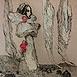 Autor: Katarína VAVROVÁ, Akademická maliarka, Názov diela: California IV, Technika: Kombinácia techník, Motív: figurálne, akty, Rozmery: 29x20 cm, Rok: 2008