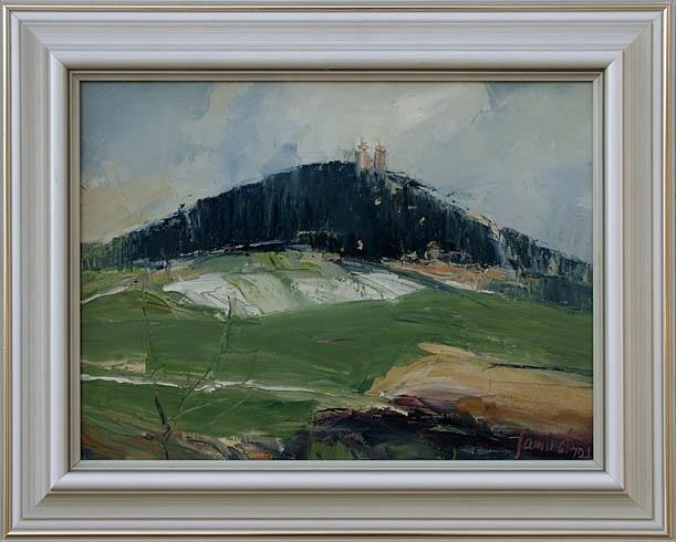 Jozef KAMINSKÝ - Banská Štiavnica Kalvária (2007), Technika: olejomaľba, Rozmery: 30x40 cm