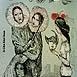 Autor: Katarína VAVROVÁ, Akademická maliarka, Názov diela: Ex libris Soichi Koeda, Technika: Ručne kolorovaný lept, Motív: figurálne, akty, Rozmery: 13x10 cm, Rok: 2008