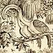 Autor: Peter KĽÚČIK, Ak. maliar, Názov diela: Dvojtelový vták, Technika: lept, Motív: figurálne, akty, Rozmery: 21x15 cm, Rok: 1999