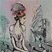 Autor: Katarína VAVROVÁ, Akademická maliarka, Názov diela: Brehy nehy, Technika: Kombinácia techník, Motív: figurálne, akty, Rozmery: 30x20,2 cm, Rok: 2013