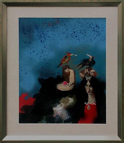 Milan VAVRO, Akademický maliar - Keď prichádza láska (2008), Technika: olejomaľba, Rozmery: 50x40 cm