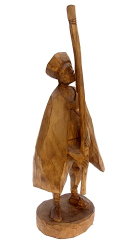 Jozef ŠÍMA - Fujarista (2009), Technika: drevorezba, Rozmery: 36 cm