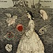 Autor: Katarína VAVROVÁ, Akademická maliarka, Názov diela: Ex Libris Valáškovi, Technika: kolorovaný lept, Motív: figurálne, akty, Rozmery: 12,5x10 cm, Rok: 0