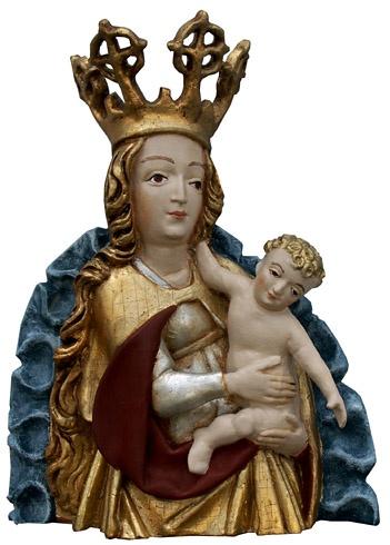 Viera  ŠMIDÁKOVÁ - Madonna s dieťaťom, Technika: Polychromovaná epoxidová kópia, Rozmery: 34x26 cm
