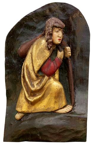 Viera  ŠMIDÁKOVÁ - Malý Apoštol, Technika: Polychromovaná epoxidová kópia, Rozmery: 20x12 cm