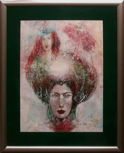 Milan VAVRO, Akademický maliar - Sviatočný deň (2009), Technika: akryl - olej, Rozmery: 59x44 cm