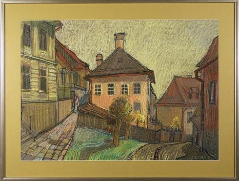 Marian RUMAN, Ak. maliar - Farská (2005), Technika: pastel, Rozmery: 50x70 cm
