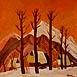 Autor: Zdeno HORECKÝ, Akademický maliar, Name of work: Zima pod Rozsutcom (Zázrivá - Grúne), Technique: olejomaľba, Motif: landscape, architecture, Size: 40x40 cm, Year: 2010