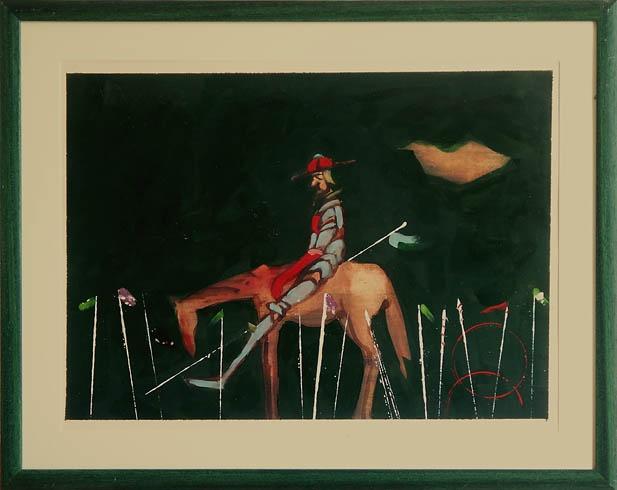 Milan VAVRO, Akademický maliar - Don Quijote (2010), Technika: kombinácia techník, Rozmery: 42x59 cm