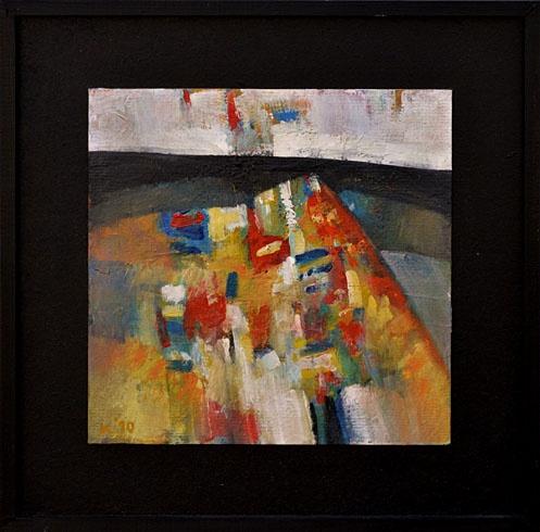 Ján KUCHTA - Kompozície (2009), Technika: Olejomaľba, Rozmery: 28x28 cm