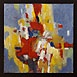 Autor: J�n KUCHTA, N�zov diela: Kompoz�cie, Technika: Olejoma�ba, Mot�v: abstraktn�, Rozmery: 28x28 cm, Rok: 2009