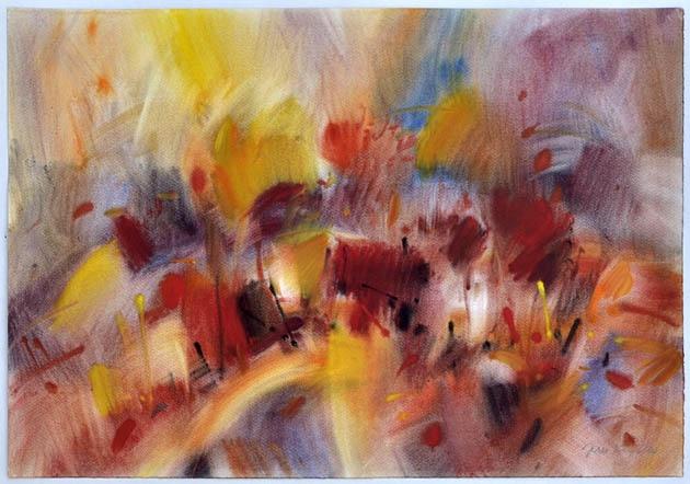 Ján KUCHTA - Krajina (2010), Technika: Akvarel, Rozmery: 46x65 cm