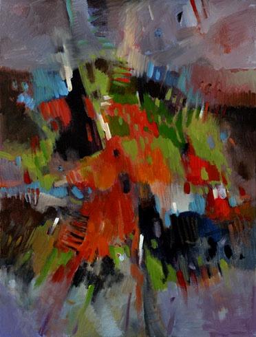 Ján KUCHTA - Obraz II (2011), Technika: akryl, Rozmery: 80x60 cm