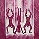 Autor: Naďa RAPPENSBER- GEROVÁ - JANKOVIČOVÁ, Ak. maliar, Názov diela: Fašiangy II, Technika: litografia nerám, Motív: figurálne, akty, Rozmery: 28x14 cm, Rok: 1999