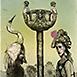 Autor: Katarína VAVROVÁ, Akademická maliarka, Názov diela: Váhavá, Technika: ručne kolorovaný lept, Motív: figurálne, akty, Rozmery: 14,8x9,7 cm, Rok: 2011